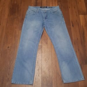 7 straight light wash blue jeans tag size 32x30